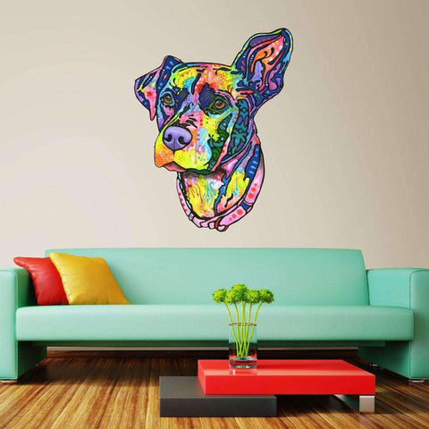 Keen Dog Wall Sticker Cut Out - Animal Pop Art by Dean Russo