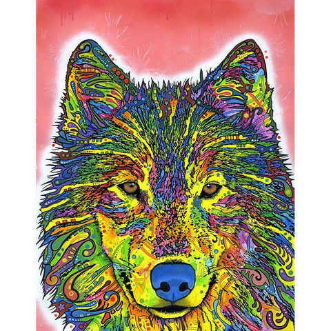 Wolf Wall Sticker Decal - Animal Pop Art by Dean Russo
