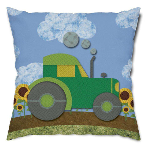 Day on the Farm Tractor Throw Pillow