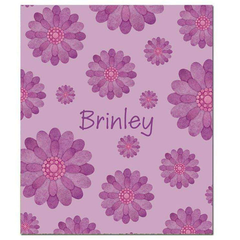 Personalized Fun Flowers Fleece Blanket