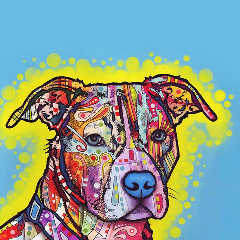 Painted Pit Bull Wall Sticker Decal - Animal Pop Art by Dean Russo