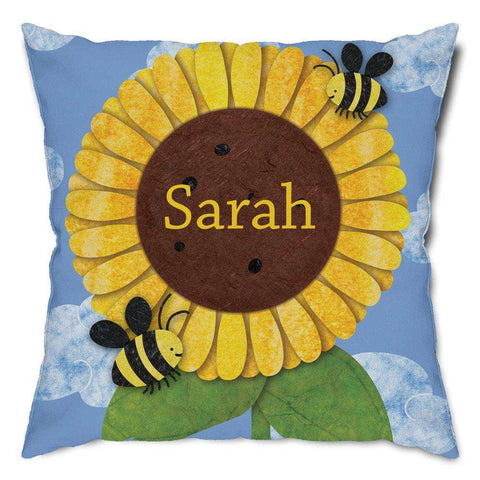Personalized Sunflower Throw Pillow