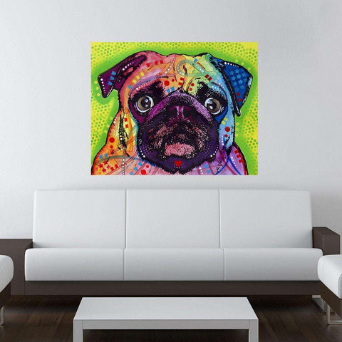 Pug Dog Wall Sticker Decal - Animal Pop Art by Dean Russo