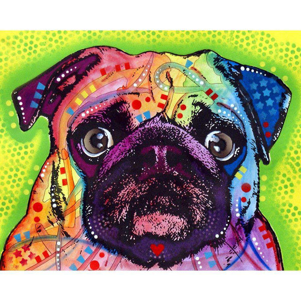 Pug Dog Wall Sticker Decal Animal Pop Art By Dean Russo