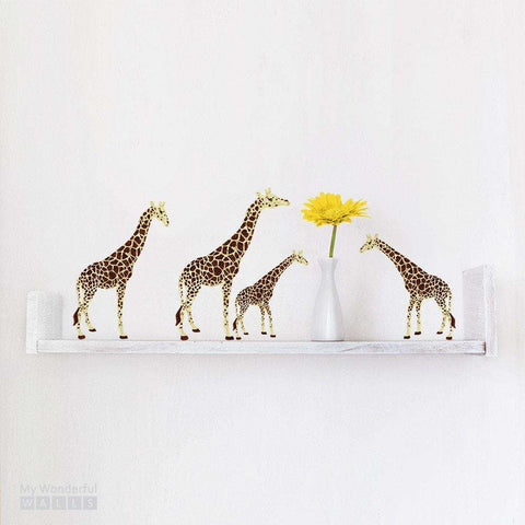 Miniature Giraffe Stickers - Set of 4 Decals