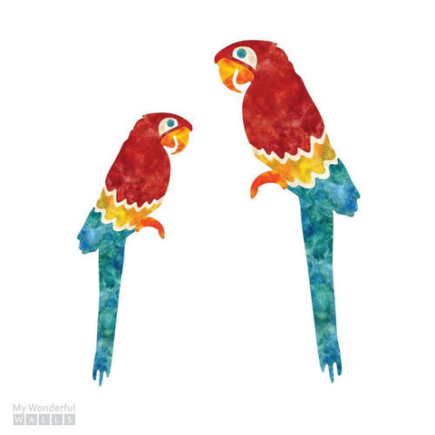 Macaw Stickers - Set of 2 Jungle Bird Decals
