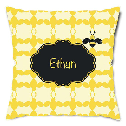 Personalized Honey Bee Throw Pillow