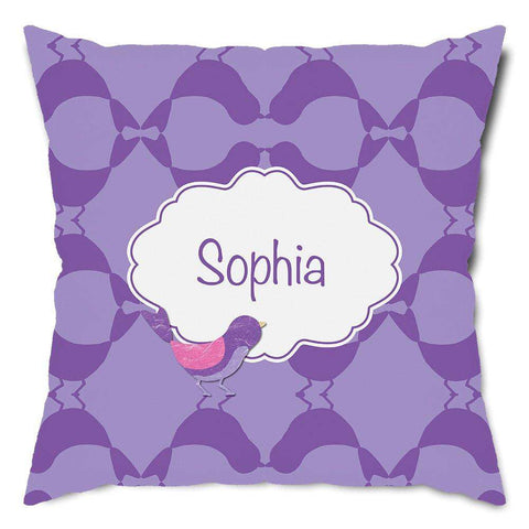 Personalized Pretty Bird Throw Pillow