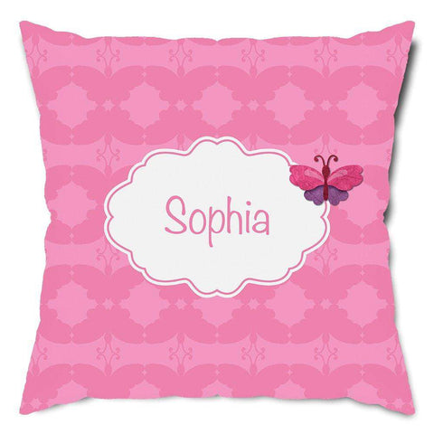 Personalized Beautiful Butterfly Throw Pillow