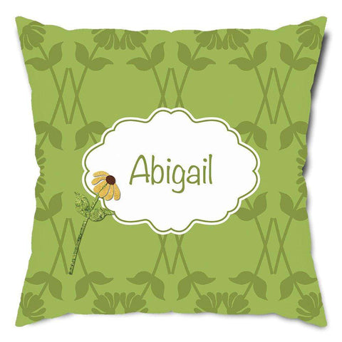Personalized Fancy Flower Throw Pillow