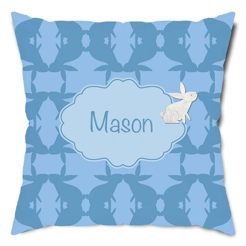 Personalized Bunny Rabbit Throw Pillow