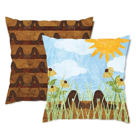 Earthy Earthworms Throw Pillow