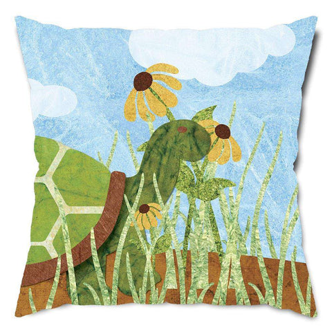 Sunny Day Turtle Throw Pillow