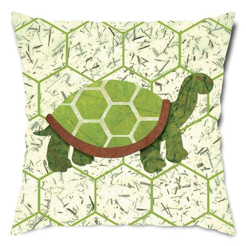 Go Green Turtle Throw Pillow