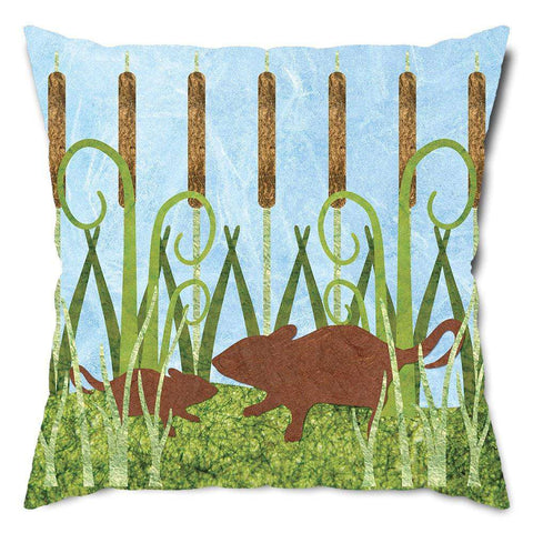 Playful Field Mice Throw Pillow