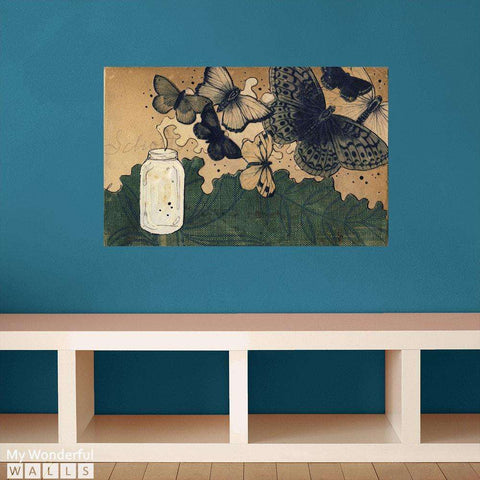 Summer Turns To High - Collage Art Wall Sticker Decal by Hollie Chastain