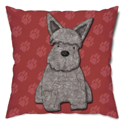 Rough and Tough Terrier Dog Throw Pillow
