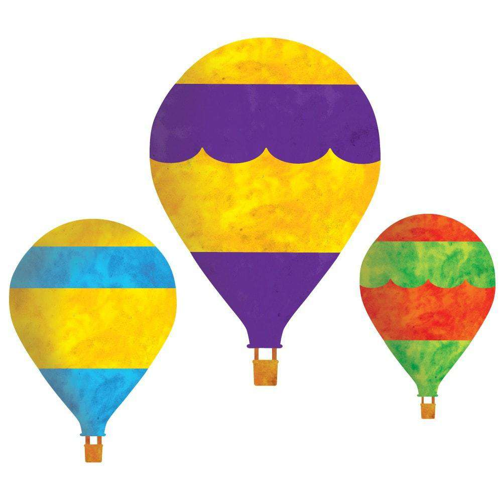 Set Of 3 Hot Air Balloon Wall Sticker Decals