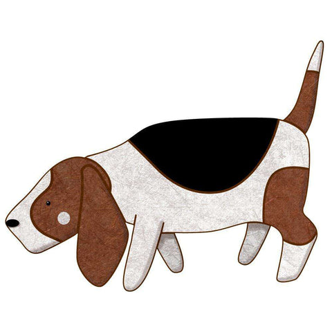 Basset Hound Wall Sticker Decal