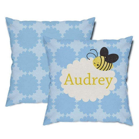 Personalized Bee Throw Pillow