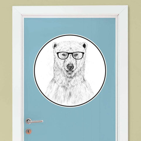 Polar Bear Wall Decal - Geek Bear by Balázs Solti