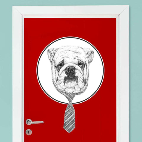 Bulldog Wall Decal - Cool Dog Animal Art by Balázs Solti
