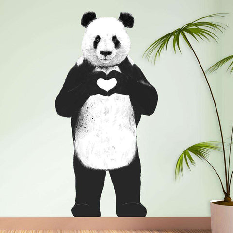 Standing Panda Bear Sticker Cut Out - All You Need Is Love by Balázs Solti
