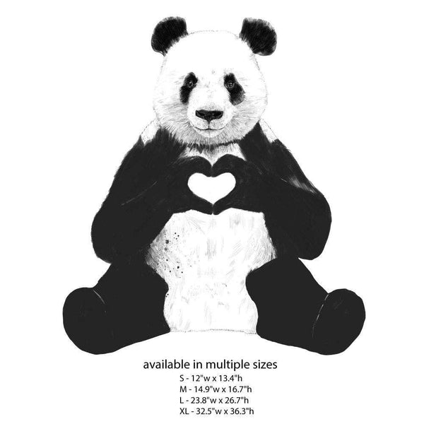 All You Need Is Love Sitting Panda Wall Sticker Decal