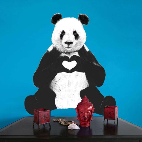 Sitting Panda Decal Cut Out - All You Need Is Love by Balázs Solti