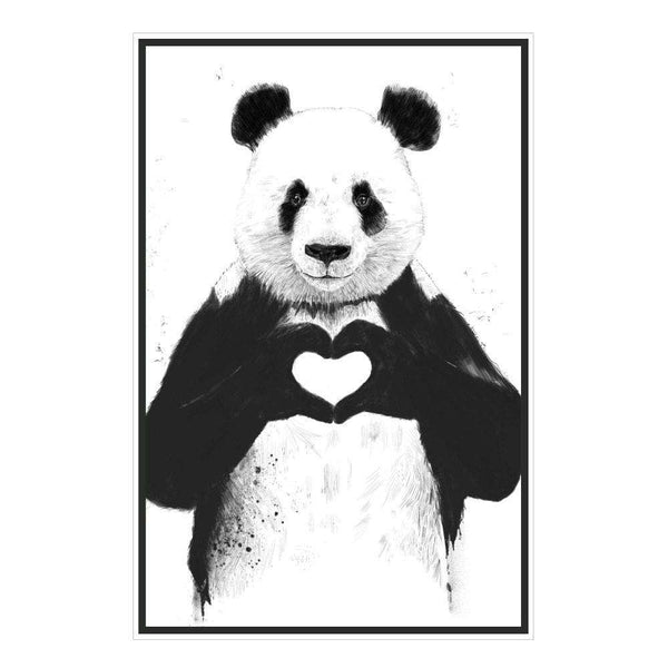 Panda Wall Sticker All You Need Is Love Panda Art By