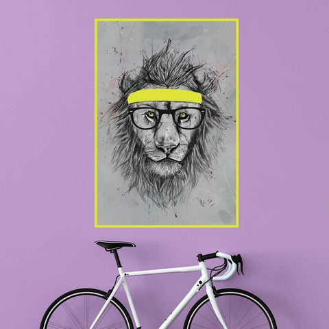Hipster Lion Wall Decal Sticker by Balázs Solti