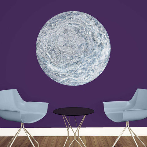Celestial Moon Wall Decal - Astronomy Art by Elise Mahan