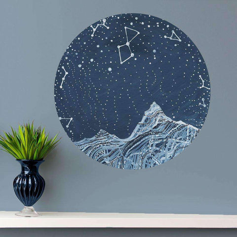 Lyra Constellation Wall Decal - Astronomy Art by Elise Mahan
