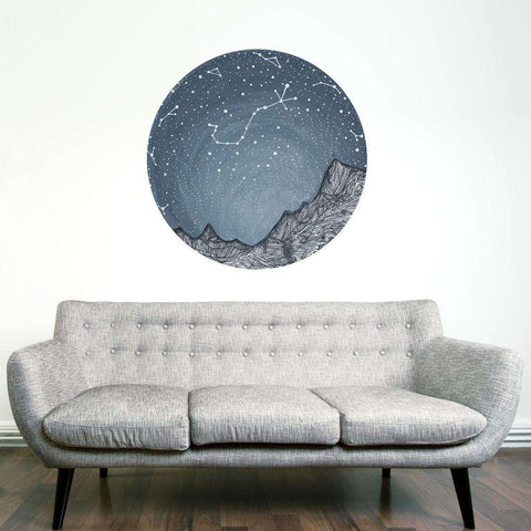 Scorpio and the Blue Ridge Mountains Decal - Astronomy Art by Elise Mahan