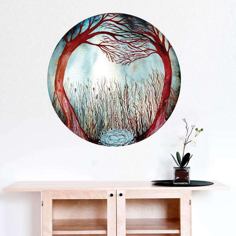 Hidden in the Madrone Forest Wall Sticker - Celestial Art by Elise Mahan