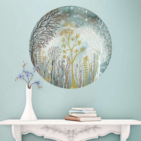 The Midsummer Triangle Wall Decal - Ethereal Art by Elise Mahan