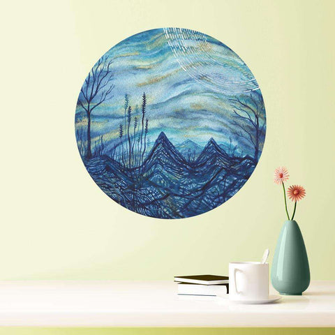 Indigo Evening Wall Sticker - Nature Art by Elise Mahan