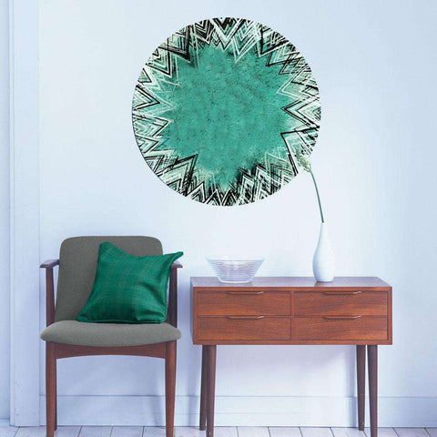 Turquoise Geometry Wall Sticker - Geometric Art by Elise Mahan