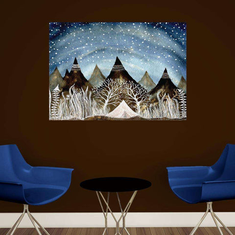 Beneath the Indigo Sky Wall Decal - Astronomy Art by Elise Mahan