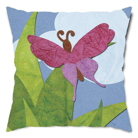 Lovely Butterfly Throw Pillow