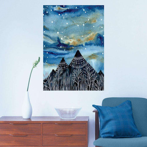 The Summer Triangle Wall Sticker - Astronomy Art by Elise Mahan