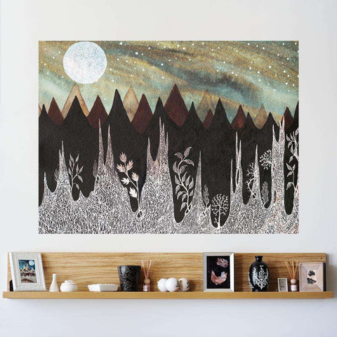 Aurora Borealis and the Ice Forest Wall Sticker - Celestial Art by Elise Mahan