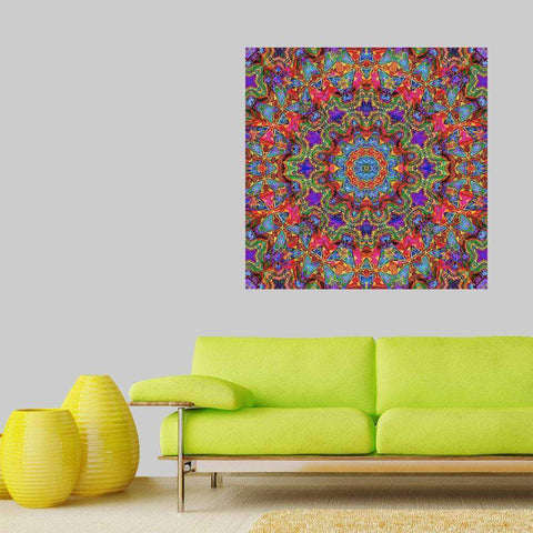 Kaleidoscope Wall Art Decal Sticker - Cautiously Spring by Lyle Hatch