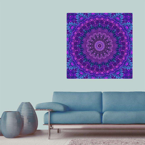 Harmony in Purple– Kaleidoscope Wall Sticker Art by Lyle Hatch