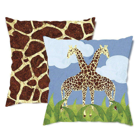 Gorgeous Giraffes Throw Pillow