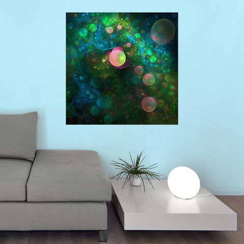 Digital Futuristic Wall Sticker Decal Art – Inner Space by Lyle Hatch