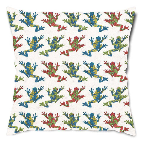 Totally Tree Frogs Throw Pillow