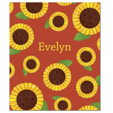 Personalized Sunny Sunflowers Fleece Blanket
