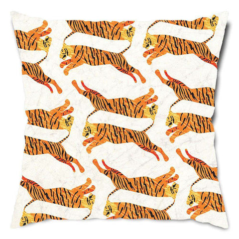 Majestic Tigers Throw Pillow