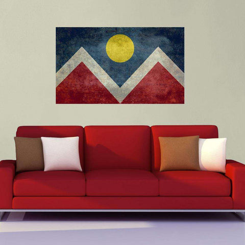 City Flag of Denver, Colorado Wall Sticker Decal by Bruce Stanfield